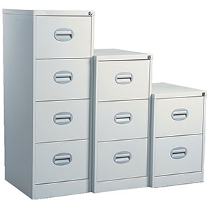 Contract Filing Cabinets in Black and Grey