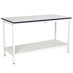 Contract Postroom Open Bench with Bottom Shelf