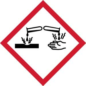 Corrosive Pictogram GHS Labels