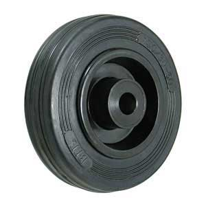 Ribbed Cushion tyred wheel