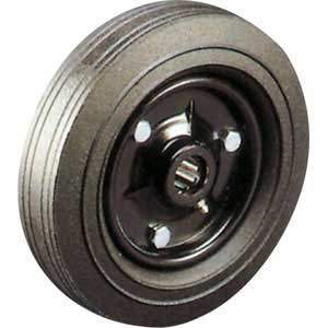 Cushion tyred wheel pressed steel centre
