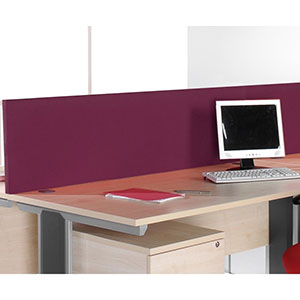 Desk Mounted Fabric Screens