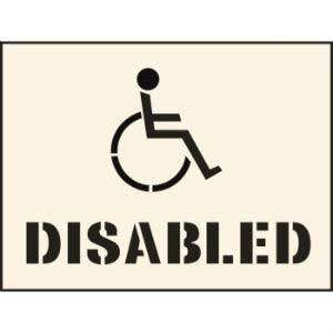 Disabled Industrial Stencil