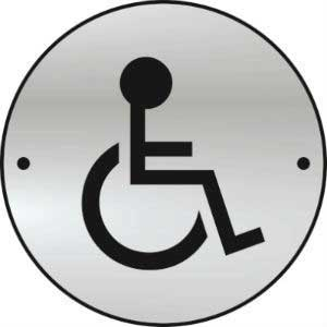 Disabled Toilet Door Disc