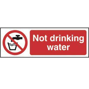 Do Not Drink / Not Drinking Water Sign