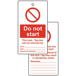 Do Not Start Lockout Tags (Pack of 10)