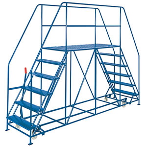 Double Side Access Platforms 3 to 10 treads, 1.6m platform Depth