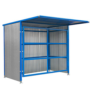Oil drum storage shelter