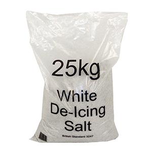 Bulk White Road De-icing Rock Salt, Bags of 25kg