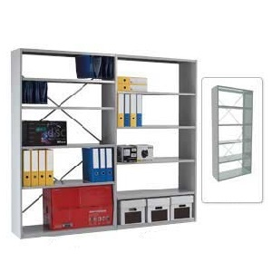 Duo Shelving - Open Back Bays with 6 Shelves