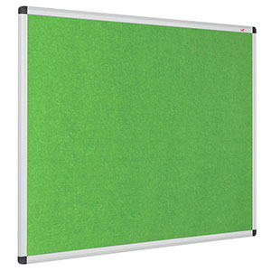 Eco-colour resist-a-flame notice boards with aluminium frame