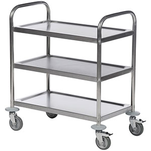 Economy Stainless Steel Trolleys with 2-4 Shelves