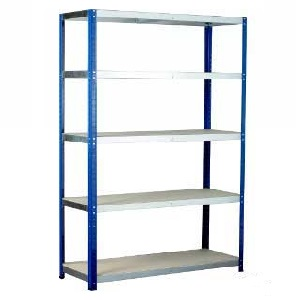 Ecorax shelving system with 5 chipboard shelves