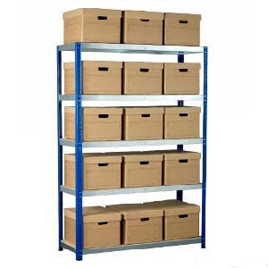 Ecorax - Topbox Shelving Units 5 shelves & Archive Boxes