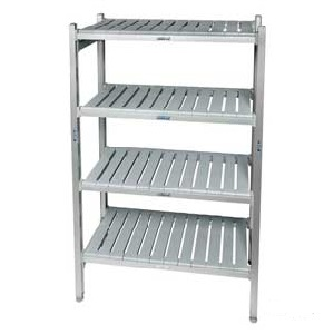 Eko Fit Aluminium Shelving Starter Bays With 4 Shelves