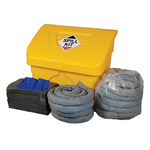 240 litre spill kit with storage bin