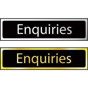 Enquiries Mini Sign