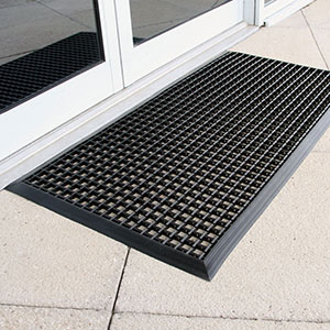 Entramat Cross Ribbed Entrance Doormat With Free Uk