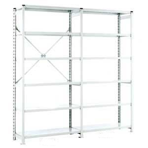 Euro Shelving Open Bays with 6 shelves