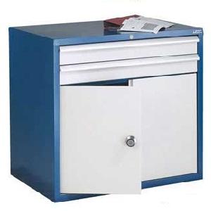 Euroslide 2 Drawer & Cupboard Storage Cabinets 840mm