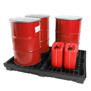 EVO Recycled Plastic 4 Drum Spill Pallets