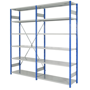 Expo 4 Open Shelving Bays with 6 Shelves with FREE UK Delivery