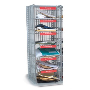 18 Compartment Mail Sort Unit - Extra Sort Column