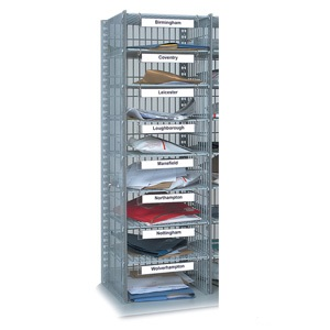 24 Compartment Mail Sort Unit - Extra Sort Column