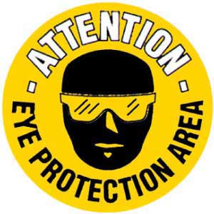 Eye Protection Area Graphic Floor Marker