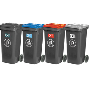Family of Four 120 litre Recycling Bins with FREE UK Delivery