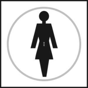 Female Toilet Braille Sign With Symbols