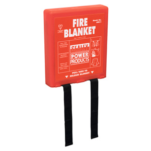 Fire Blanket with Wall Mounting Case, BS EN 1869 with Fast UK Delivery