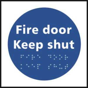 Fire Door Keep Shut Braille Sign