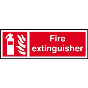 Fire Extinguisher Symbol & Text Sign