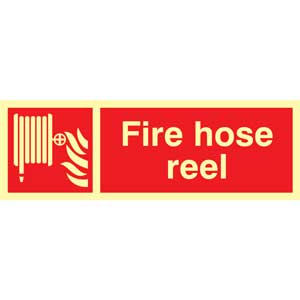 Fire Hose Reel Photoluminescent Sign