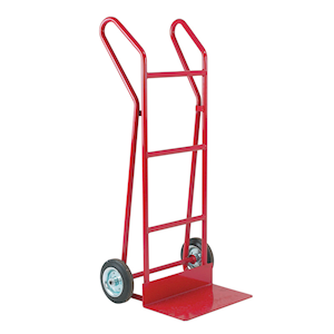 Sack truck with flat foot iron