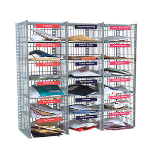 18 Compartment Mail Sort Unit - Sort Unit