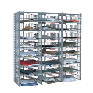 wire mesh mail sorting unit