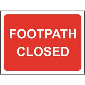Footpath Closed Roll-up Sign