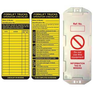 Forklift Safety Tag Kits