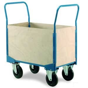 Four Sided Veneer Box Cart Trolley