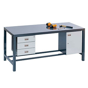 Fully Welded Engineers Bench with Beech Top and FREE Delivery