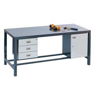 H/Duty fully welded Bench, Steel Top