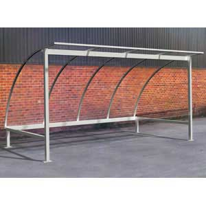 Galvanised Bicycle Shelter