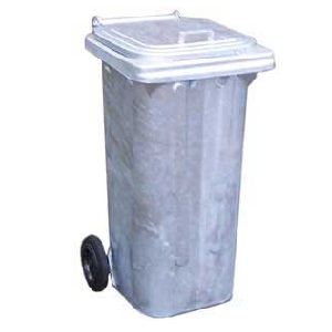 Galvanised Steel Wheelie Bins