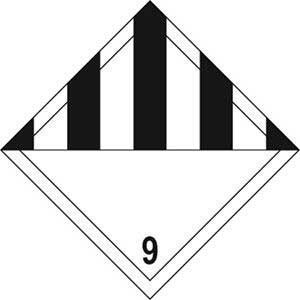 General Hazard 9 Diamond Labels