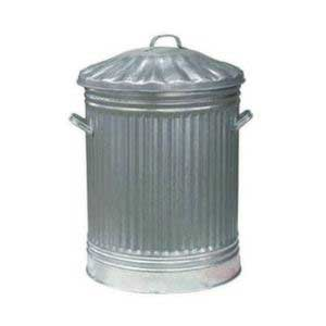 80 litre galvanised steel dustbin