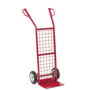 General purpose handtruck with mesh back, capacity 125kg