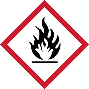 GHS Flammable Pictogram Labels
