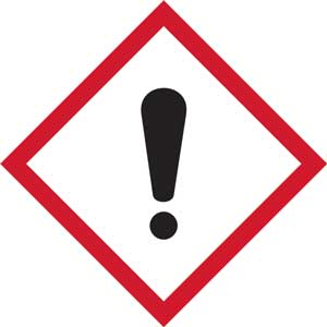 GHS Irritant Pictogram Labels